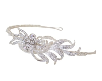 Pearl & Diamante Side Detail Bridal Headband