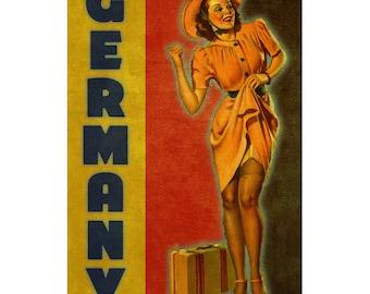 GERMANY 1P- Handmade Leather Mini Wallet / Cardholder - Travel Art