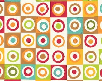 Fat Quarter Mischief  - Blocks in Red - Little Boy Fabric Line Designed by Nancy Halvorsen for Benartex (W888)
