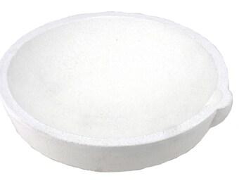 1500 Gram 965 DWT Ceramic Alumina Crucible Dish Cup Melting Casting Refining Gold Silver