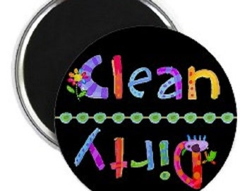 KidGlo Clean Dirty Dishwasher Magnet