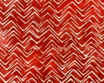 Red Zig Zag Batik 1yd