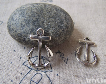 20 pcs of Antique Silver Anchor Charms Pendant 15x23mm A5407