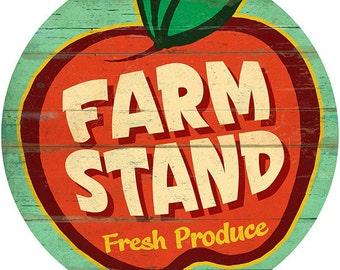 Farm Stand Fresh Produce Apple Wall Decal #40780
