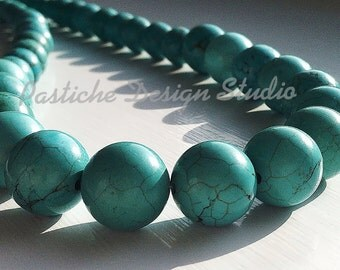 Turquoise Single Strand Beaded Necklace