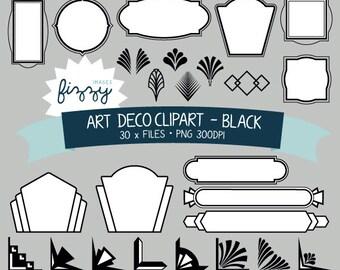 art deco banner