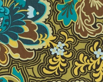 SALE: Amy Butler's Belle- Gothic Rose in Turqoise, 1/2 yard