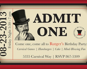 Carnival or Circus Theme Party Invitation