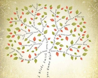 6 Generation Family Tree Fan Chart Instant Download