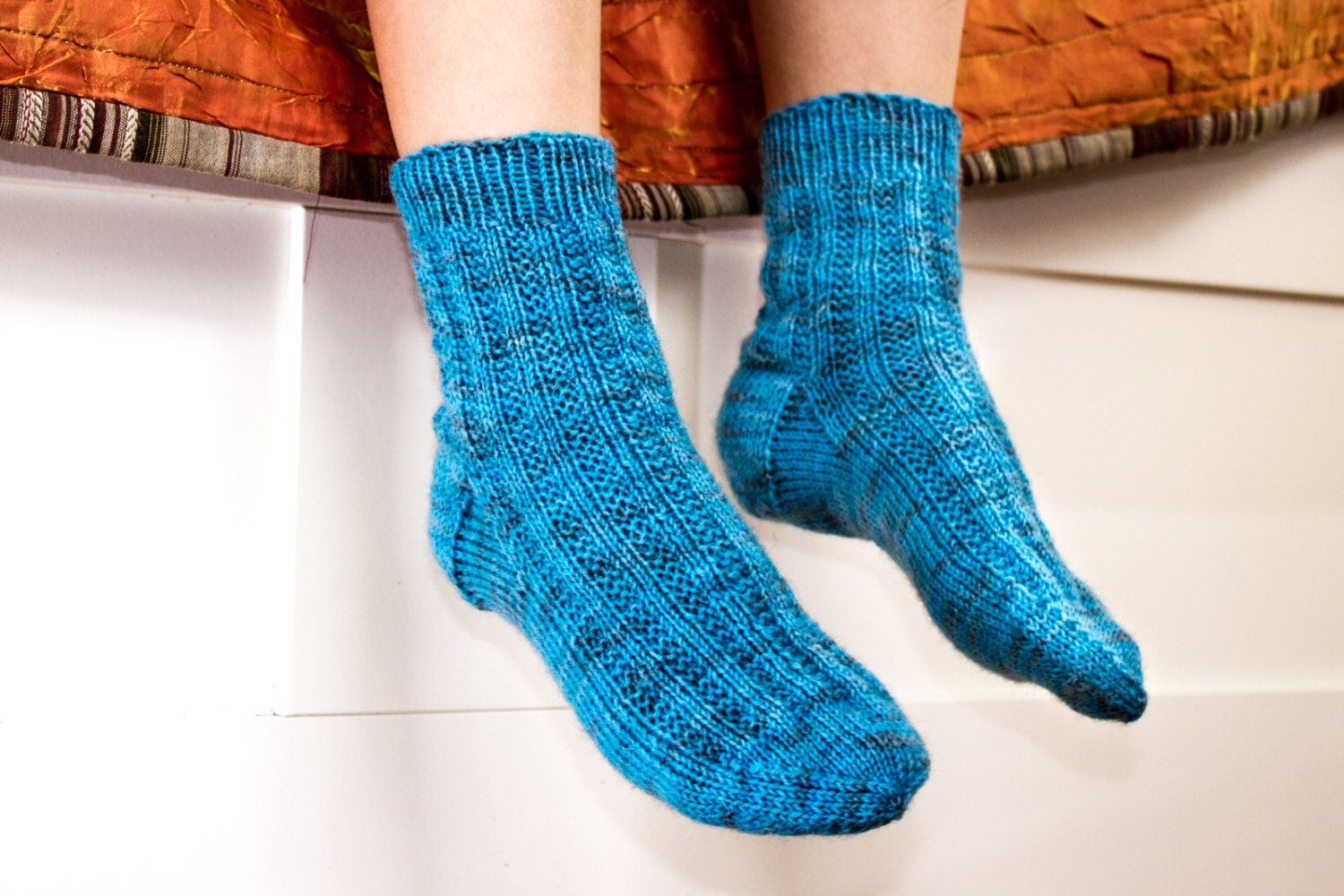 Tights Knitting Pattern : KNITTING PATTERN Kids Socks Boys Knit Socks Modern