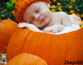 Ready to ship newborn infant baby boy or girl pumpkin HAT crochet costume halloween  photo prop infant Halloween costume