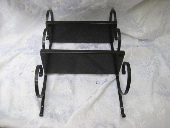 black metal wall shelf small shelf scrolled by. Black Bedroom Furniture Sets. Home Design Ideas
