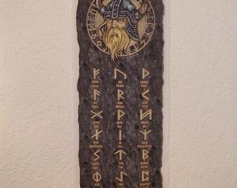 Scandinavian Swedish Norwegian Danish Viking Runes Wall Hanging