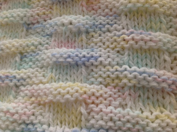 Multi colored Basket Weave pattern knitted baby by ...