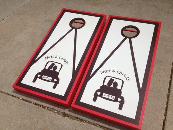 Wedding Cornhole Boards Customized Wedding Cornhole Boards For Your