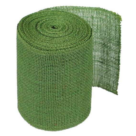 6 green burlap ribbon 10 yards 4 pack for Green burlap ribbon