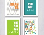 Items Similar To Baby Boy Nursery Art Set Of 4 Instant