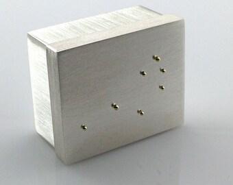 Sterling Silver Presentation Box - Pleiades - Silver Pill Box - The Seven Sisters - Constellation - Gift Box
