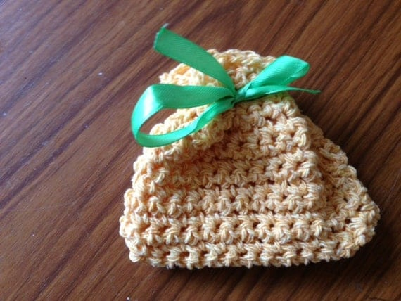 Mini Crochet Bag : Two Yellow Bags, Mini Crochet Bag, Crochet Gift Bag, Small Yellow Bag ...