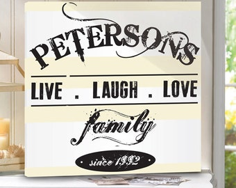Personalized Family Canvas Prints