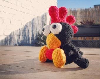 Amigurumi pattern Black Rooster