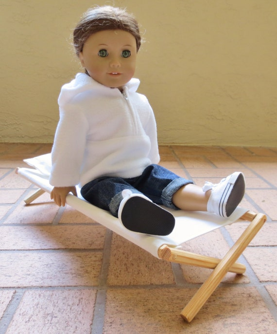 DOLL COT Canvas Sleeping Cots, Handcrafted for American Girl®,18 Inch Dolls