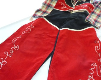 Roy Rogers Costume Child's Cowboy Dress Up Costume Vintage Play Suit Collectable