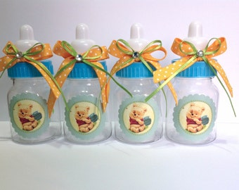 pooh baby shower favors baby candy bottles winnie the pooh baby shower