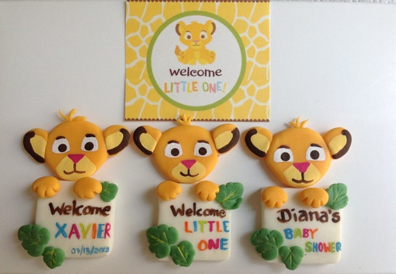 items similar to baby lion king baby shower favors magnets for the