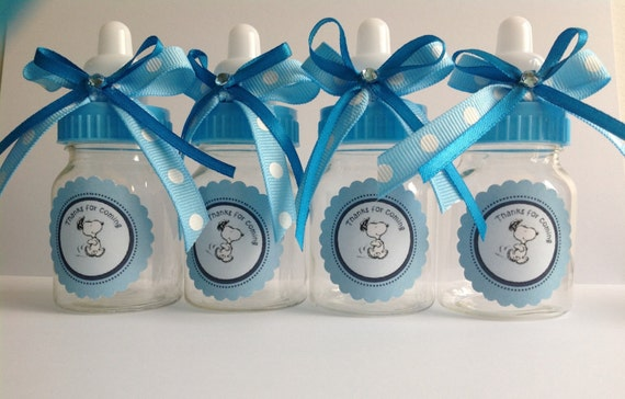 Snoopy baby bottles baby shower favors by Marshmallowfavors