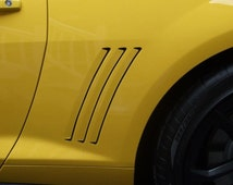 Chevy Camaro Side Gill Vent Decal Insert Stripes Inlays Vinyl 2011 2012 2013, 46