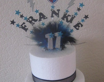 Monster high Frankie Stein cake topper with age and name