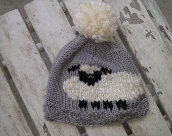 Hand Knit Baby Hat - Lambkin