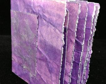 Purple , Hand Bound, Hand Inked Tag Journal