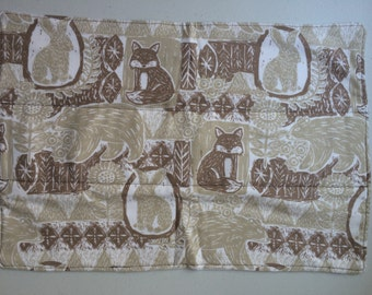 Animals from the Woods Flannel & Cotton Burp Cloth