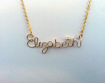 Personalized Wire Name Necklace or Word Necklace