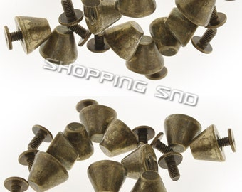 Bronze Spikes And Studs Metal Musroom 8X11MM Screw back  FREE SHIPPING Worldwides