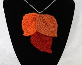 OOAK Knit Pendant Necklace