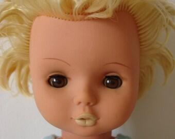 Vintage german Doll, collectible, retro home decor,1970s