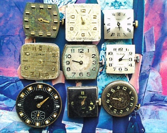 9 hours mechanisms USSR. With arrows and dials.
