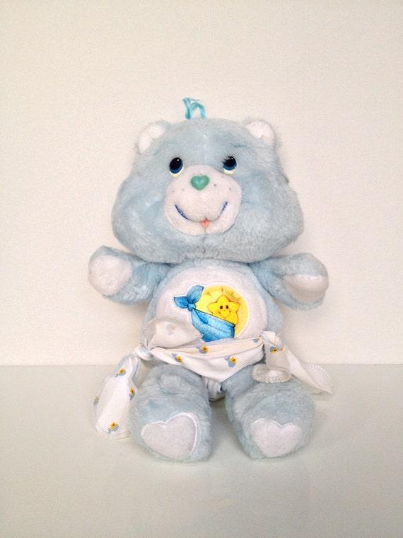 Vintage Care Bear Baby Tugs Bear Plush