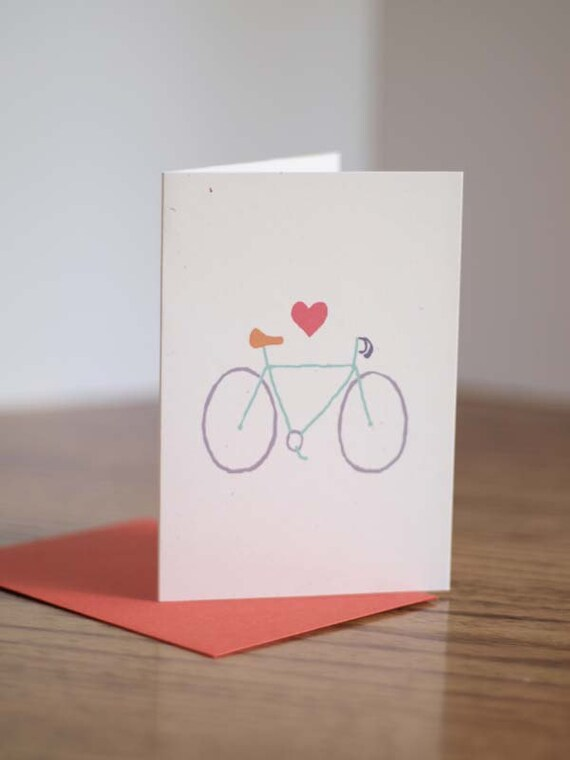 Bicycle Love Note Cards design from Lemonhead Press