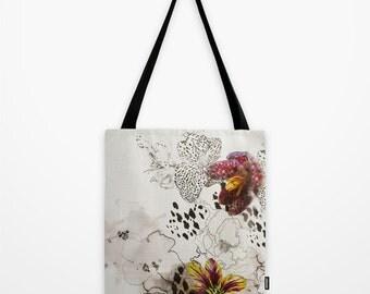 Leopard Orchid // Canvas Tote // Bag // Shopper