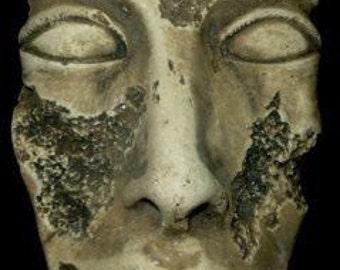 Egyptian Mask of Pharaoh Akhenaten 3D Wall Plaque Antique Reproduction