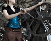 Steampunk skirt with cogs ; made to measure ; Handmade from Italy - SilviaAlphardCouture
