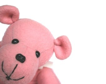 Teddy Bear - Pink Plush Toy - Stuffed Animal - Sylvia The Bear - Plush Bear - Soft Toy