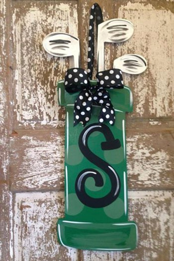 Items Similar To Monogram Wood Wreath Golf Wall Decor