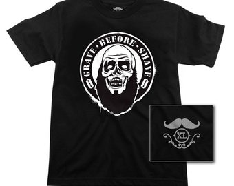 GRAVE BEFORE SHAVE  Bearded Zombie T-shirt