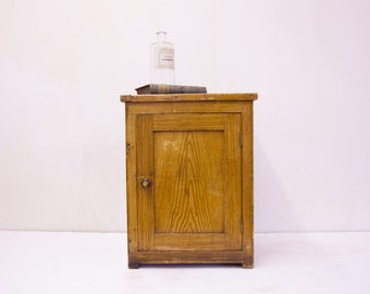 English Faux Painted Bedside Cupboard