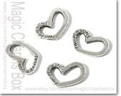 10pcs 17x12m Antique Silver Tone Two Persons Heart Charm DIY Necklace / Earring / Bracelet Pendant Charms J3414